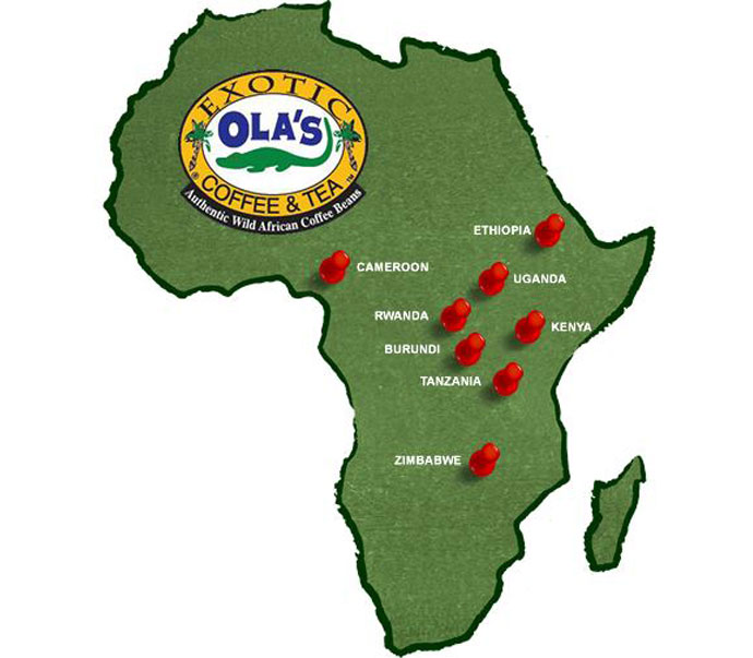 Olas Coffee Tea Map